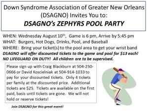 Zephyrs Pool Party 2016