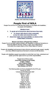 People First of NOLA
