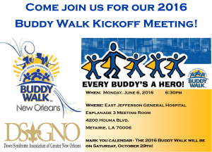 2016 Buddy Walk Kickoff